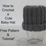 how to crochet a baby hat -4
