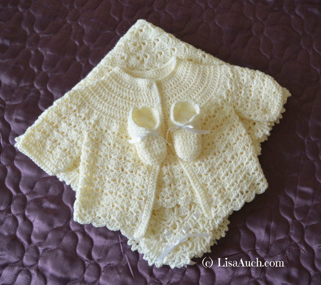 Crochet Beautiful Gift (Crochet Blanket/Shawl Booties and ...