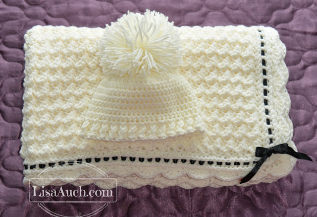 Crochet A Beautiful Baby Blanket Amp Crochet Baby Hat With